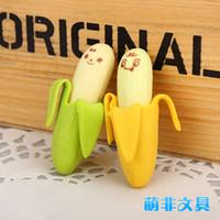Wholesale new arrive adorable sweet super simulation skinned the banana modelling eraser cartoon era