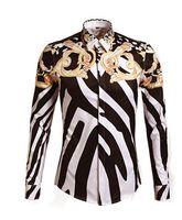 designer mens clothing - Designer Shirts Men Zebra Print Luxury Casual Slim Fit Stylish Dress Shirts Long sleeved Mens Shirts Cotton Fashion Clothing casual shirts j