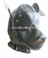 animal masks adults - Female Dog Head Sex Mask Hood Animal Cosplay Pleasure Hoods Adult Games Toy Product YC482