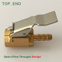 air hose repair - x14mm Hose Barb Large Bore Valve Air Chuck Clip On Open Flow Through Brass Stem Professional Tyre Repair Tire Inflation Kits