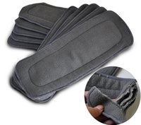 Wholesale Essential layers Bamboo Charcoal Inserts Cloth Diaper for Baby Diaper Washable Unisex Diapers for Children Care