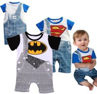 newborn clothing - Cute Summer Newborn Clothes Baby Suit Boys Superman Batman Romper Cotton M