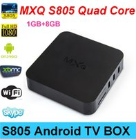 Receivers DVB-S B-MXQ TV BOX Amlogic S805 tv box set top box digital tv cable receiver magic box tv receiver MXQ 2.0ghz 1G 8G 2.4G wifi