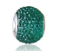 pandora - 1668 Sliver Core Big Hole European Beads Mixed Candy Colors Fit For DIY Pandora Jewerly