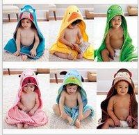 baby bathrobe - Children s Cartoon bathrobes Baby Hooded Bath Towel Bathrobe Cotton Terry Infant Kids Bathing Wrap Robe Toddler cute animal robes years
