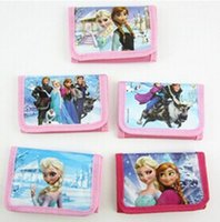Wholesale FR54 Baby Purse Girls Cartoon Wallet Bags Holder Pouch for Kids Anna Elsa Wallet Purse