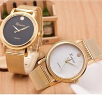 Wholesale 2015 Rose Gold Watch Women Luxury Brand Geneva Ladies Wristwatches Gifts For Girl Full Stainless Steel Rhinestone Quartz Watch