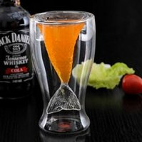 Wholesale 100PCS LLA46 Creative Crystal Mermaid Glass Cup Vodka Shot Drinking Bar Party Cup Coffee Glass