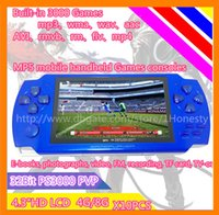 lcd media player - 2015 New Hot Sale Time limited Inch Tetris quot Lcd Game Console Pmp Mp4 Mp5 Player G free Games Media Av out fm with Camera x