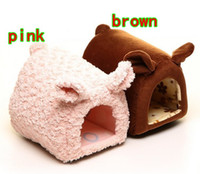 Wholesale Japan Doug Pig type pet nest Fashion mini cat litter kennel Small type dog house Pink brown