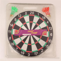 Wholesale Sport Game Dartboard Casual Game Room Fashion Family Fun and Classic Flocking Hard Thickening Inch Bristle Dart Board Sport Game