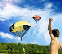 Wholesale 1000PCS HHA100 New skydive Parachute with Figure Soldier Toy for Kids Children Outdoor Sport Color send random
