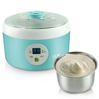 Wholesale Yung Wei Automatic Yogurt Maker multifunction LCD display yogurt machine stainless steel liner Specials A3