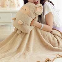 Wholesale Winter Hand Warm Pillow Cute Dual Use Pillow Cartoon Pillow Toy Hand Pillow Cushion Blanket JA0072 salebags