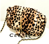 Wholesale 2014 Latest Fashion and Classic Fur Leopard Lady Shoulder Bags Chain Bags Women Message Bags Universal Lady Bags Handbags