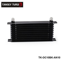 Wholesale Tansky Row AN Engine Transmission Aluminum Black Oil Cooler For Universal With No Logo TK OC10BK AN10
