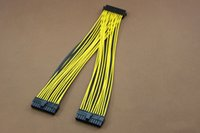atx power cord - PC Server PSU ATX Pin Female to Male Y Splitter Motherboard Power Cable Cord AWG cm