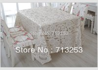 Wholesale No Big size high quality table cloth spread wedding embroidery table cloth with placemat cm table cove