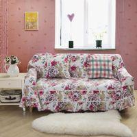 sofa cover - 100 cotton Canvas top grade sofa cover family floral sofa cushion sofa dust cover