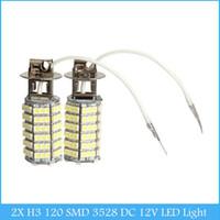 Wholesale 2X H3 SMD DC V Car LED White Light Fog Light Headlight Lamp Bulb C235