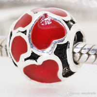 Cheap Crystal Beads Best Hearts, Love Silver Pandora Beads