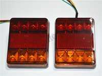 trailer lights - Waterproof LED Tail Light Rear Lamps Pair Boat Trailer Submersible V Rear Parts for Trailer Truck Boat