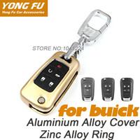 Wholesale Car styling Aluminium alloy car key cover suitable for Buick Encore Excelle Regal car key shell Zinc alloy car key ring