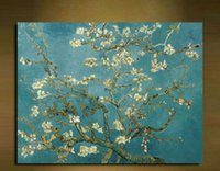 apricot oil - Beautiful Canvas Prints Abstract Van Gogh Oil Painting Apricot flower Picture Printed On Canvas x50cm
