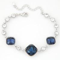 achat en gros de bracelet en cristal d'une direction-2016 Bijoux Bracelet Perles de Cristal coréenne One Direction Bracelets Lien Chaîne pour femmes Bijoux Bracelets de Charme Bangles