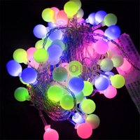 Wholesale 5M Led Fairy String Light Cherry Ball for Christmas Tree Ornament Party Wedding Decoration Fairy Night Light Curtain Strings Lamp