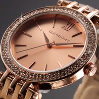 crystal watches - Taylor Cole Stainless Steel Bracelet Strap Rose Gold Bling Crystal Bezel Relogios Quartz Clock Women Casual Dress Watch TC002