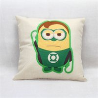 Wholesale cm Avengers pillow cover capa almofada Ironman cojines Ironman Superman Batman Green Lantern Pillocase