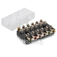 Wholesale Car Audio Fuse Box In Out Holder Block AMP V Black