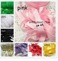 Fashion polyester Solid New Kids Hair Accessories black color FOE solid fold over elastic band foe hair tie Black color 50y lot Free shipping 5 8''(1.5cm)