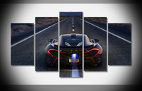 auto art stickers - A1706 Mclaren P1 Poster Car Auto Art print home decor stretched framed HOT gallery wrap home wall decor handmade print