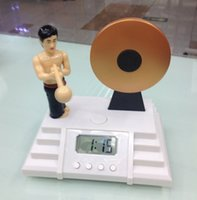 Wholesale 2015 new arrival alarm clock knock the gong Bruce Lee knock the gong alarm clock Classic Creative Alarm Clock Bruce Lee Knock the Gong Clock