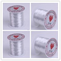 elastic cord jewelry - 10 Rollsx10M Mixed MM Strong Crystal Beading Stretch Elastic Cord Wire String DIY Jewelry Craft Bracelet Making FEAL