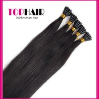 Wholesale New Arrival I Tip Human Hair Extension inch g Strand Brazilian Straight Virgin Hair Fusion Hair Extensions DHL