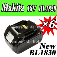 Wholesale pack Makita V Lithium Ion Battery BL1830 for Cordless drill Good Quality VIA EMS order lt no track