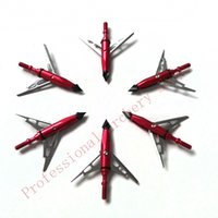 Wholesale Hunting Arrow Head Pieces Red Color Grain Steel Archery Expandable Broadheads for Hunting Bow