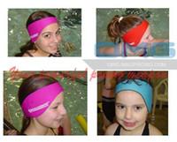 aqua earband - Custom Imprint Waterproof Neoprene Kids Adults Swimming Earband Headband Ear Protector Ear Warmer Aqua Earbands