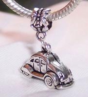 antique european cars - Hot Sale Antique silver Car Dangle Beads Fit European Charm Bracelet x24 x9mm