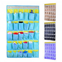 closet door - 30 Pocket Dormitory room hanging receive bag Door Holder Shoe Storage Organizer Closet Hanger Organise LJJH264