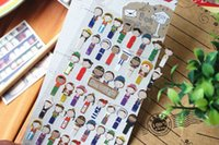 Wholesale Korea FUNNY World National Costume Design Paper Stickers Decoration Dimensional Stickers