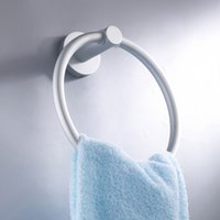 bathroom towel warmer wall mount - Acessorios Para Banheiro Aluminum Round Towel Ring Rack Wall Mounted Body Towels Holder Bathroom Accessories Towel Warmer
