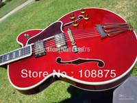 archtop guitar - hot sell one piece Byrdland Wine Red Archtop Guitar James Hutchins Built100 Excellent Quality