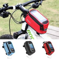 Wholesale 2015 New ROSWHEEL quot quot quot Waterproof Outdoor Cycling Mountain Road MTB Bike Bicycle bag Frame Front Tube Bag for Cell Phone