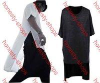 Wholesale Long Style High Quality New Brand Design Fashion Tyga Man Hiphop Hip Hop Tshirt Top Tees T shirt Men Side Split Black White