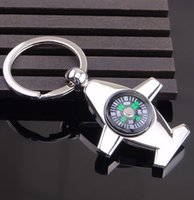 aircraft compass - New multi purpose aircraft compass key chain key ring Keychain creative Keychain men high quality
