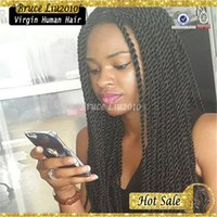 best synthetic lace front wigs - Factory price best quality synthetic braided lace front hair wigs soft kinky twists hair to inches in stocks